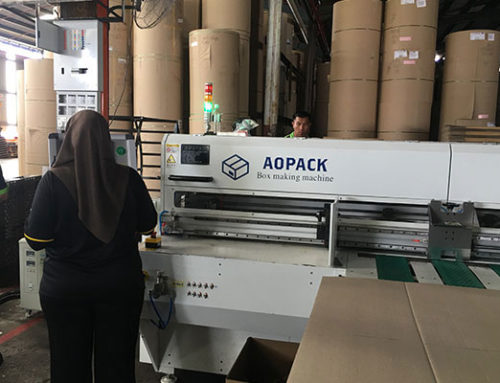First carton box making machine installed in Malaysia