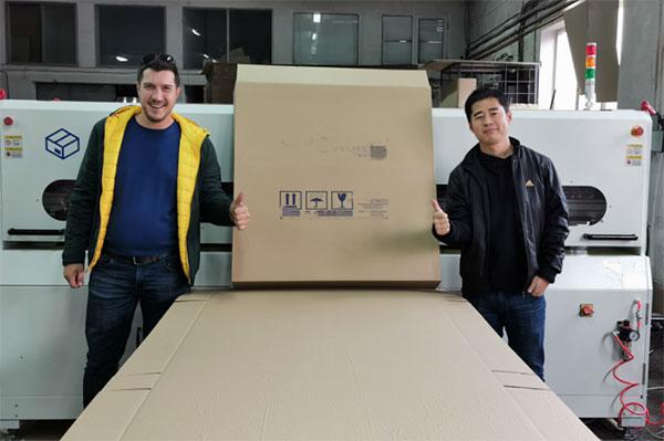 Box slotting machine BM2508-plus in Bulgaria