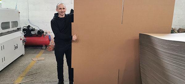 Qingdao Aopack cardboard box machine works in Poland